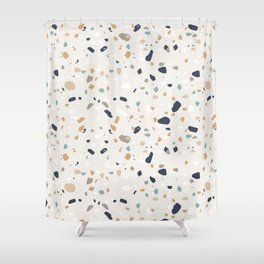 Terrazzo Trending Pattern - Saffron Shower Curtain