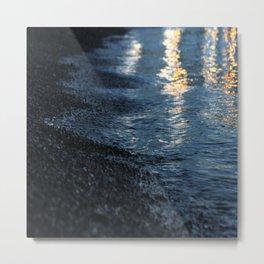 seashore in the evening Metal Print