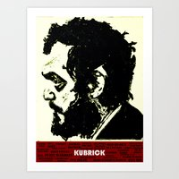 kubrick Art Prints featuring Kubrick Portrait by Gafoor