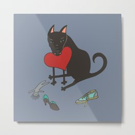 Black Dog Love Metal Print
