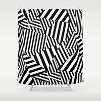 vertigo Shower Curtains featuring Vertigo by Y A Y