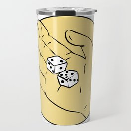 Hand Rolling The Dice Drawing Travel Mug
