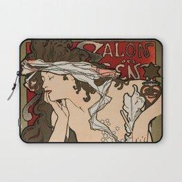 """Alphonse Mucha """"Salon des Cent (Salon of the Hundred)"""", 1896 Laptop Sleeve"""