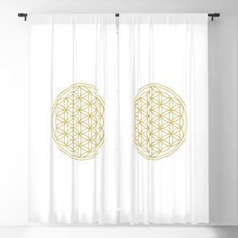 Flower of Life Gold Blackout Curtain