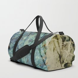 Marble ink abstract art Duffle Bag