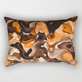 Wavy orange and brown Rectangular Pillow