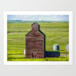 Elevator, Charbonneau, North Dakota Art Print