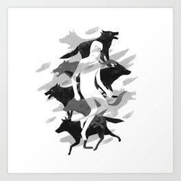 Wolves 02 Art Print
