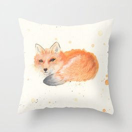 Fox revisited in Watercolor Throw Pillow