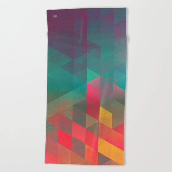 byych fyre Beach Towel