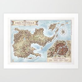 Belthennia - a map of its Independent Territories Art Print