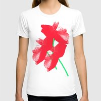 poppies T-shirts featuring Poppies by Vitta
