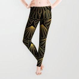 Singapore Art Deco Motif Pattern Leggings