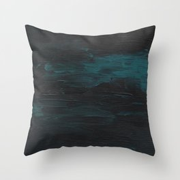 Dark Teal Sea Throw Pillow