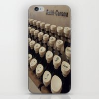 writer iPhone & iPod Skins featuring Type Writer by Chelsea Gibson