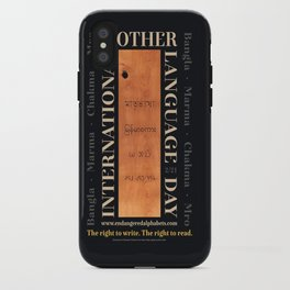International Mother Language Day poster iPhone Case