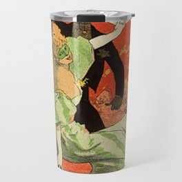Th Tre De L Op Ra Carnaval 1896 Grand Veglione De Gala 1896 By Jules Cheret   Reproduction Art Nouve Travel Mug