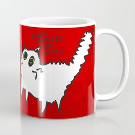 White Cat, friend or food? Coffee Mug