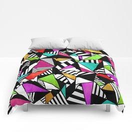 Geometric Multicolored Comforters