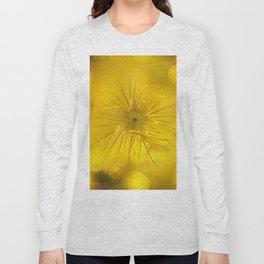 Yellow Bokeh Flower Long Sleeve T-shirt