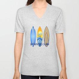 Born To Surf Hawaiian Unisex V-Neck