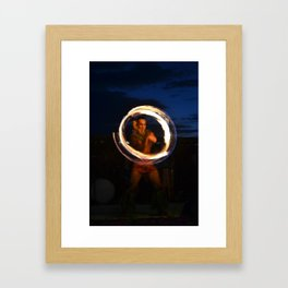 Fire Play (Luau) Framed Art Print