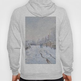 Snow Scene at Argenteuil by Claude Monet Hoody