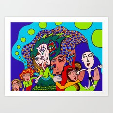 Baby is Born Art Print