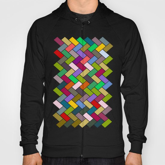 Colourful Tiled Mosaic Pattern Hoody