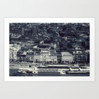 budapest Art Prints featuring Budapest by farsidian