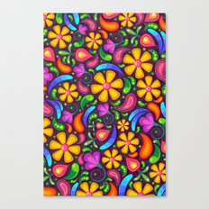 Colorful Floral Paisley Canvas Print
