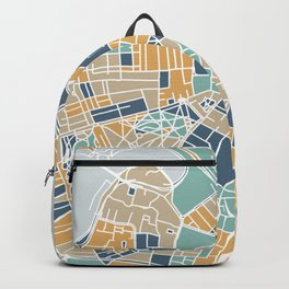 Navy and gold Boston map Backpack