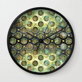 Gold Choku Rei Symbol Reiki Pattern Wall Clock