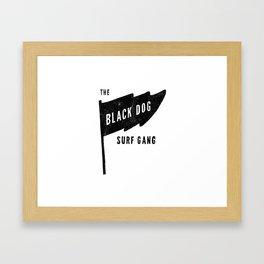 Black Dog Flag Framed Art Print