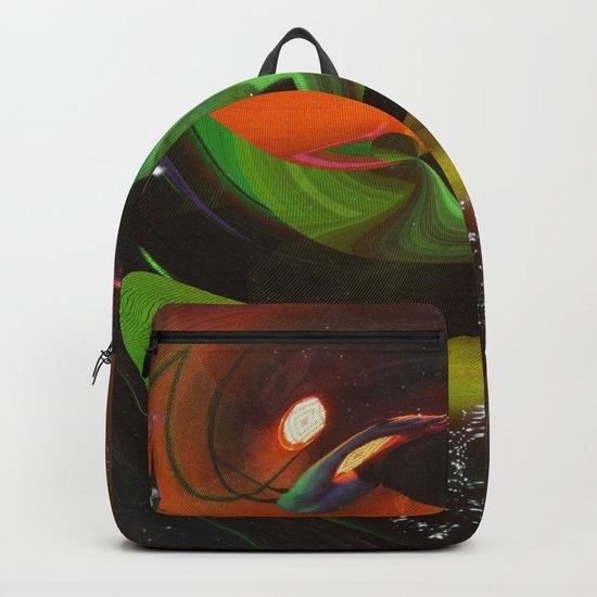 An Alien Orange Backpack