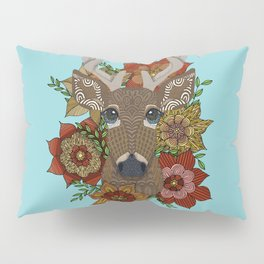 Floral Stag Pillow Sham
