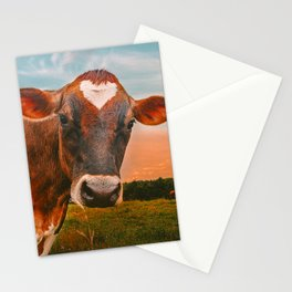 She wears her heart for all Stationery Cards