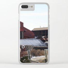 Red Barn ShipYard Clear iPhone Case