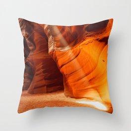 BEAM OF LIGHT ANTELOPE CANYON ARIZONA LANDSCAPE Throw Pillow