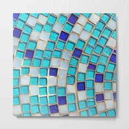 Blue Tiles - an abstract photograph. Metal Print