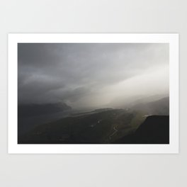 Storms Over the Gorge Art Print
