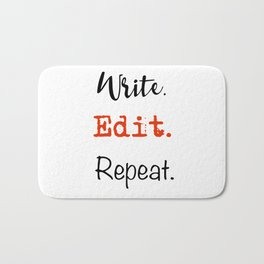 Write. Edit. Repeat. Bath Mat