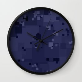 Peacoat Square Pixel Color Accent Wall Clock