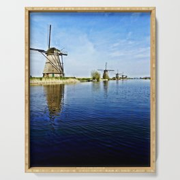 Windmills Holland Serving Tray
