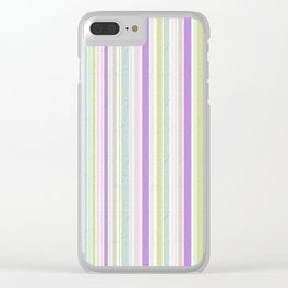 The color pattern of pastel colors 2 Clear iPhone Case