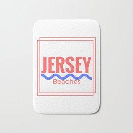 Jersey Beaches Graphic Bath Mat