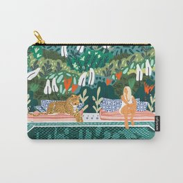 Chilling || #illustration #painting Carry-All Pouch