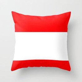 flag of austria 3 -,Österreich,Austrian,Österreicher,Vienna,Salzburg,Mozart, Schoenberg Throw Pillow