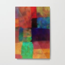 Abstract Study Five abstract art by Ann Powell Metal Print