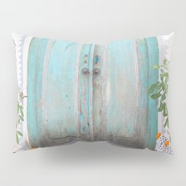 Turquoise Door Pillow Sham